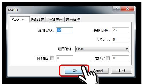 MACD表示画面
